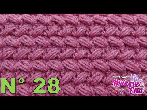 Punto Reversible Tejido a crochet N° 28 paso a paso para Suéteres y Bufandas
