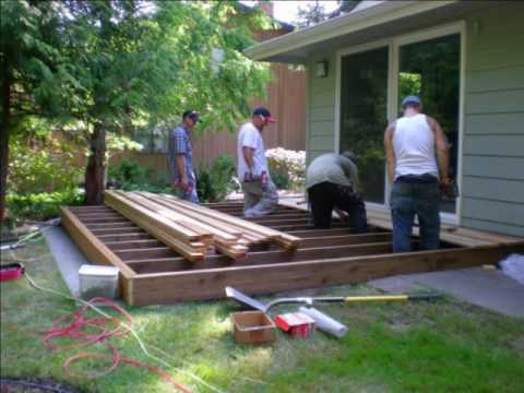 how to build a ground level deck video