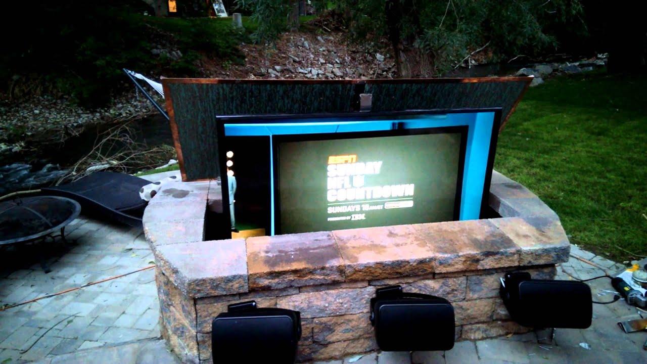 Outdoor entertainment center youtube
