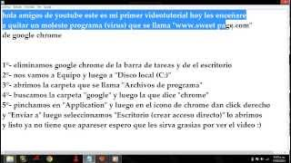 "Como Quitar ""www.Sweet-Page.com"" De ""Google Chrome"""