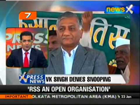 Ex Army Chief Gen V K Singh denies snooping