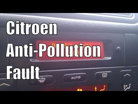 citroen c5 2 2hdi anti pollution warning espr warning youtube. Black Bedroom Furniture Sets. Home Design Ideas