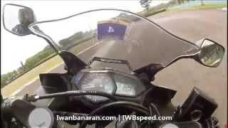 Yamaha R25 Onboard Video Circuit Test (Top Speed 162km/jam