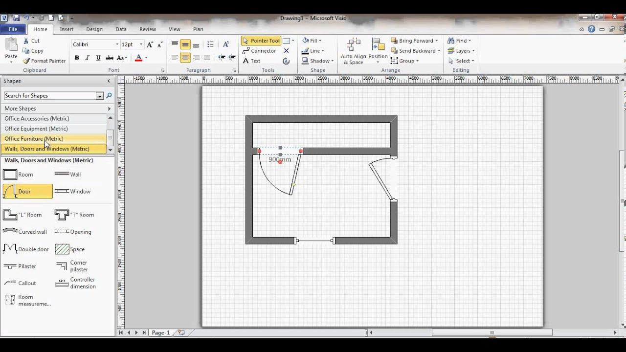 Floor Plan Visio Floor Design Ideas