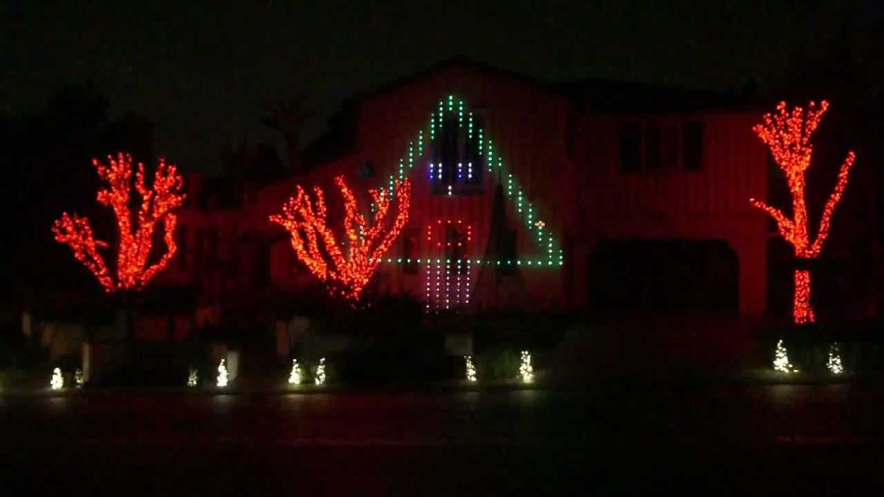 Gangnam Style Christmas Lights Show - YouTube