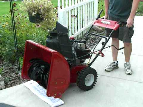 Craftsman 5 5hp 24inch two stage snowblower mod 31as6bce799 247