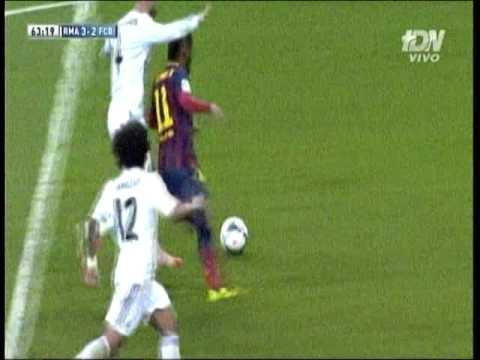 Penal a Neymar y roja a Sergio ramos