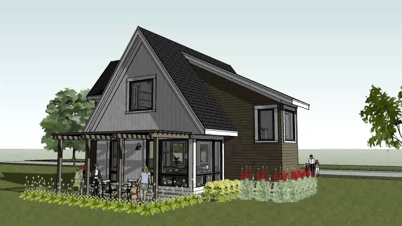 Small cottage cabin beach home design scandia modern Cottage home plans