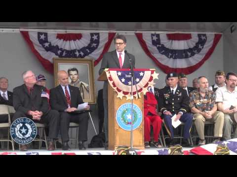 Gov. Perry Awards Audie Murphy Texas Legislative Medal of Honor