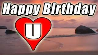 HAPPY BIRTHDAY E-card Video Song Romantic BOLERO Beach