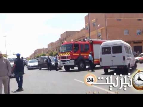 حادثة سير مروعة قرب مستشفى الحسن الأول بتيزنيت