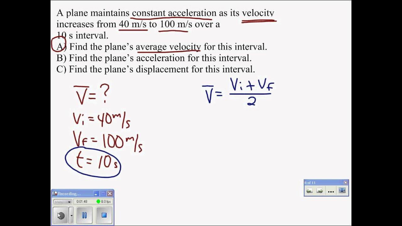 06 Average Velocity Problem - YouTube