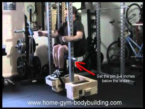 Homemade Roman Chair Squat Youtube
