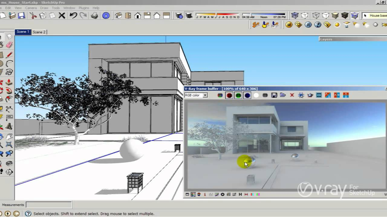 v ray for sketchup how to use hdri and sun settings
