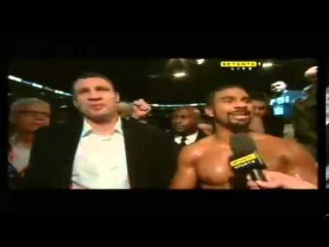 David Haye & Vitali Klitschko Interviewed Together