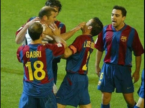 Zinedine Zidane VS Luis Enrique (Real Madrid vs Barcelona) fight
