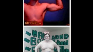 Fat White Rabbit With Instant Abs On Omegle #47 - Man Boob Happy Easter Power!