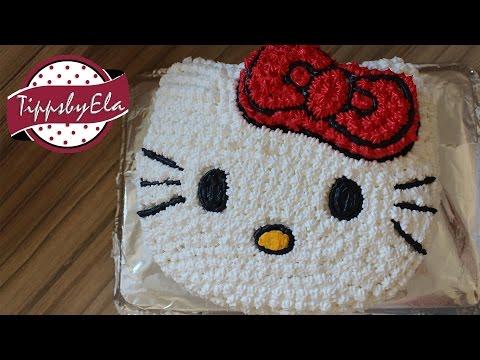 Hello Kitty Torte Anleitung Deutsch selber machen