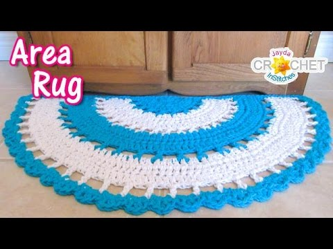 Beautiful Half Circle Area Rug - Crochet Tutorial