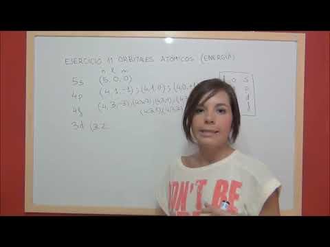 QUIMICA Ejercicio 11 Estructura atómica - Ordenación orbitales atómicos orden creciente de energía