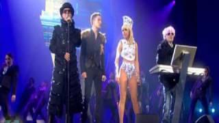 Pet Shop Boys ft. Lady GaGa & Brandon Flowers - 2009 BRIT Awards Perfomance
