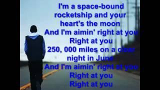 Eminem Space Bound (LYRICS)