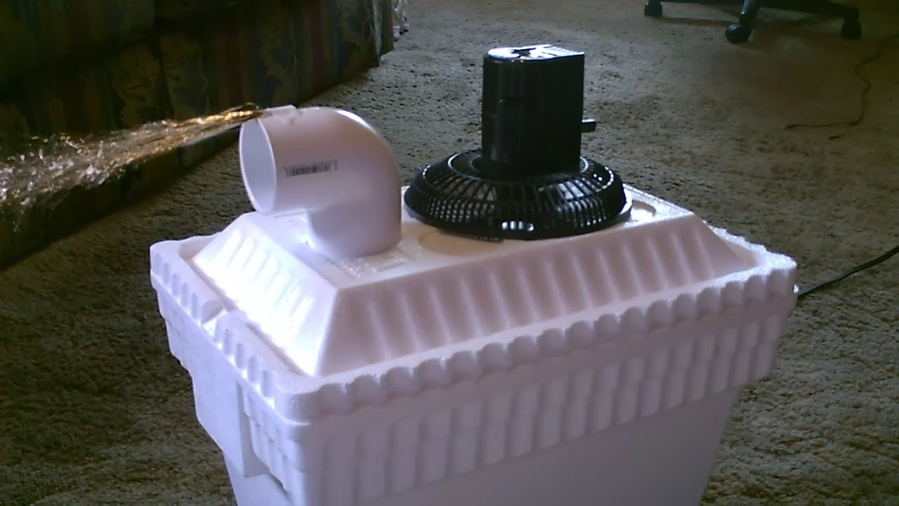 Green Styrofoam Coolers ~ Homemade ac air cooler diy can be solar powered home