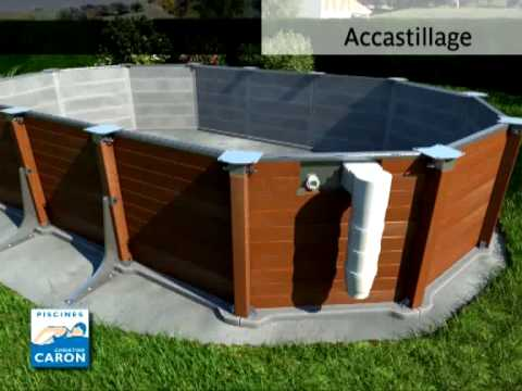 Piscine caron piscine hors sol youtube for Piscine hors sol couverte