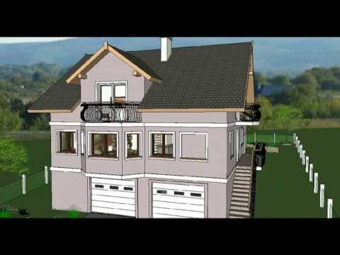 MODEL E-4 by ALIQUANTUM DOO, Porodična kuća P+1+Pk, P=200 m2, 5 soba