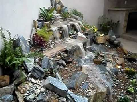 Cascadas de agua sin estanque youtube for Cascada artificial en pared