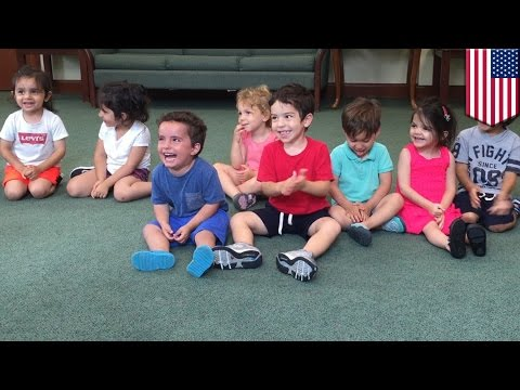Hysterical boy cant stop laughing during music class