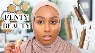 *NEW* FENTY BEAUTY CONCEALER & POWDER REVIEW! | Aysha Harun