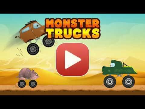 Monster Trucks car game for Kids  - Abuzz - Fun Racing