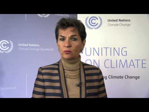 UN Climate Head Christiana Figueres issues call to action
