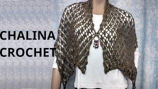 Bufanda Chalina En Tejido Crochet Tutorial Paso A Paso