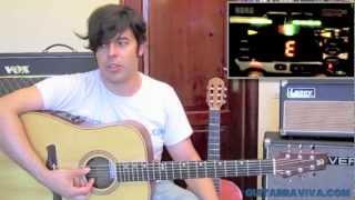 Como afinar una guitarra acústica