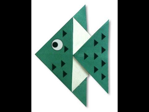 Рыба из оригами видео