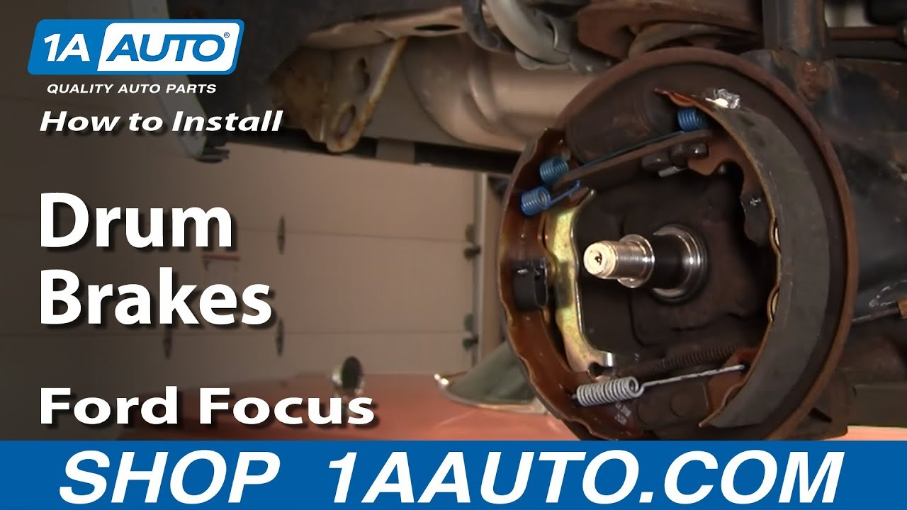 How To Install Replace Rear Drum Brakes Ford Focus 00 11