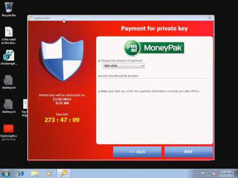 CryptoLocker (Crilock) File Encrypting Ransomware