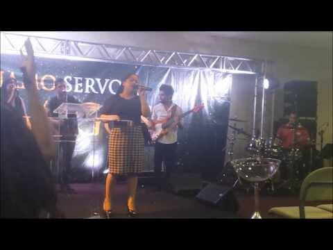 Cassiane louvando Ao Vivo Eis-me Aqui \0/ 2º Culto de Domingo na ADALPHA