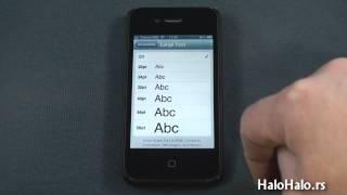 iPhone - kako povećati veličinu slova