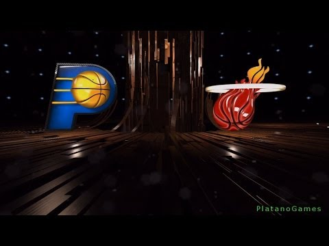 NBA Miami Heat vs Indiana Pacers - 1st Qrt - NBA Live 14 PS4 - HD