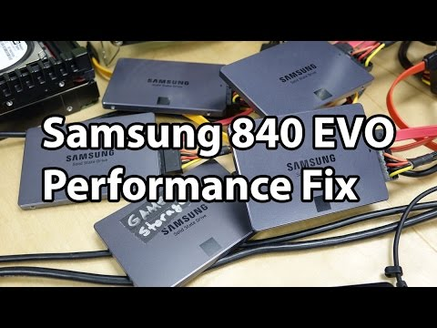 Samsung 840 EVO Performance Restoration Tool preview - Getting EVOs back up to speed