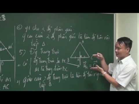 Hình học phẳng - Phương pháp độc đáo giải bài toán tam giác P1-Luyện thi đại học môn toán