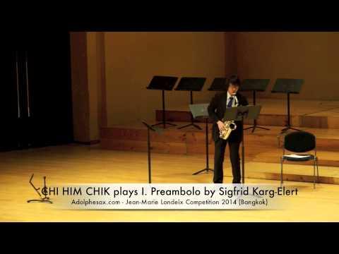 CHI HIM CHIK plays I Preambolo by Sigfrid Karg Elert