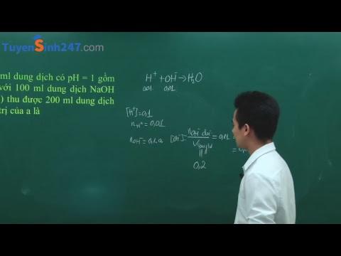 Bài tập tính PH của dung dịch - Thầy giáo :Đặng Xuân Chất