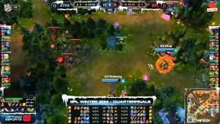 [GPL 2014 Mùa Đông] [Tứ Kết] [Game 1] Azubu Taipei Assassins vs Neolution Full Louis [04.12.2013]