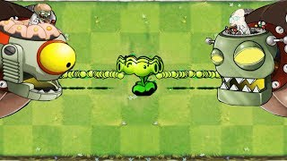 Plants vs Zombies Hack 9999 Split Pea vs  2 Dr. Zomboss