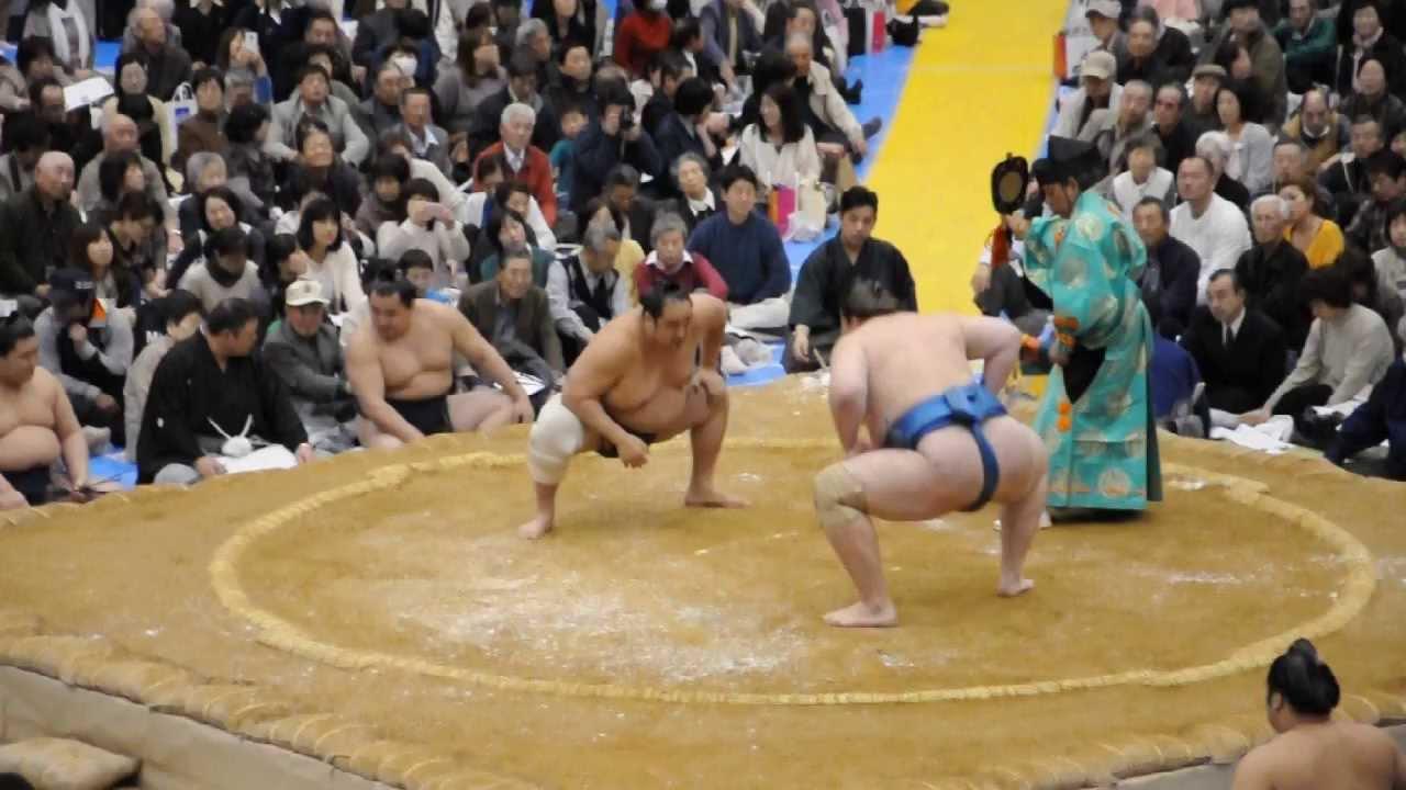 20130413 大相撲アオーレ長岡場所 把瑠都 安美錦