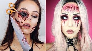 Top 10 Easy Halloween Makeup Tutorials Compilation 2018   Monster Makeup